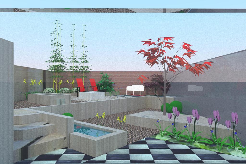 Bomen rooien tuinontwerp 2 en 3d in geldrop for Tuin 3d ontwerpen