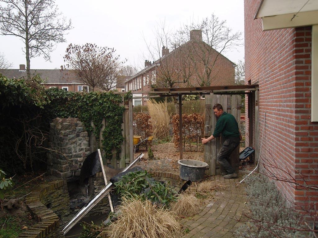 Bomen rooien tuin renoveren in vught for Tuin renoveren